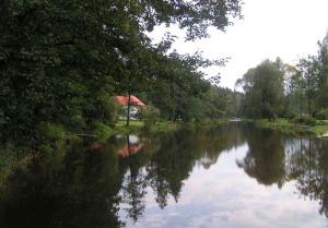 Malše, mlýn u řeky