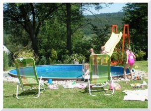 Bazén detail, ubytování s bazénem