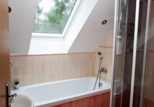 Koupelna, vana, sprchový kout.